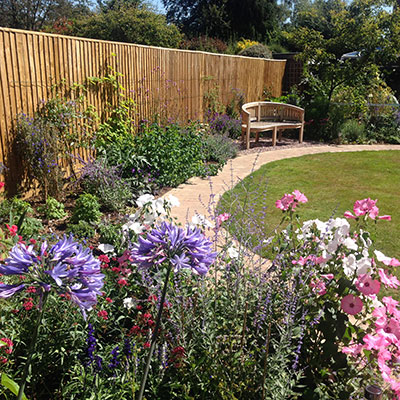 Amersham garden after the design and build