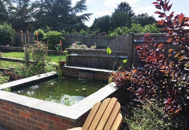 Barn Garden Amersham - Raised Pond with Aquatic Planting