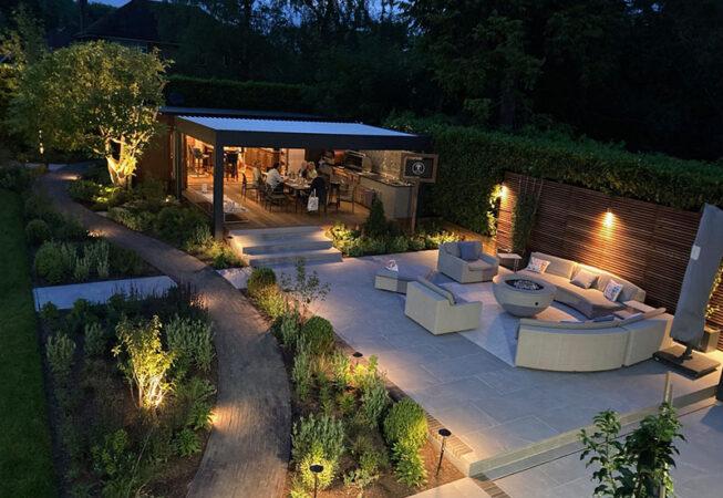Garden Lighting in Amersham Entertaining Garden