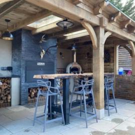 Outdoor Kitchen Oak Gazebo